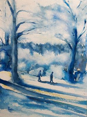 Promenade en forêt 2 /30 x 40 - nicht eingerahmt/ohne Passepartout CHF 200