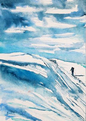 Tour à ski 1 /25 x 35 - nicht eingerahmt/ohne Passepartout CHF 200