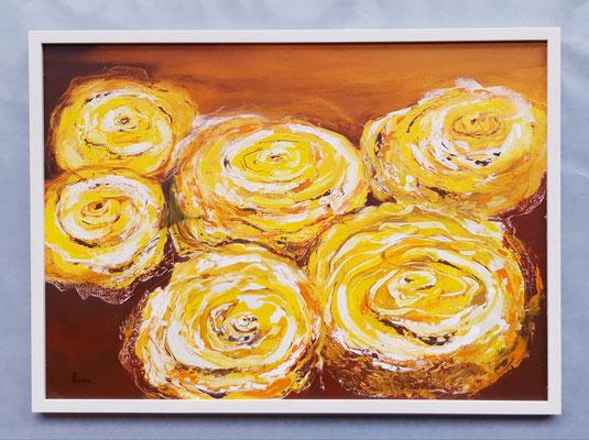 Roses jaunes 50 x 70 Papier - eingerahmt/encadré CHF 600