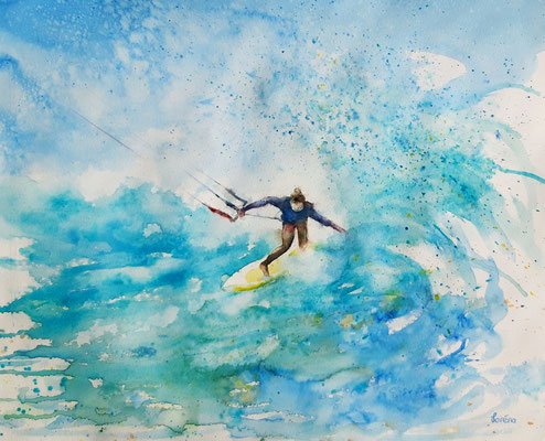 kite surfer 3 /40 x 50 nicht eingerahmt/ohne Passepartout CHF 300