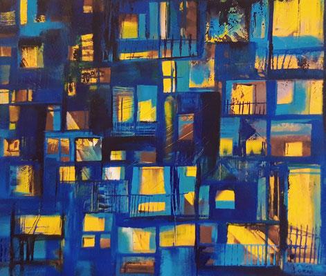 Fenêtres illuminées 60 x 70 Leinwand/canevas CHF 700