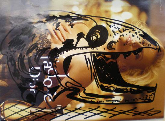Schädel und dessen Wahrnehmung - Collage/Marker