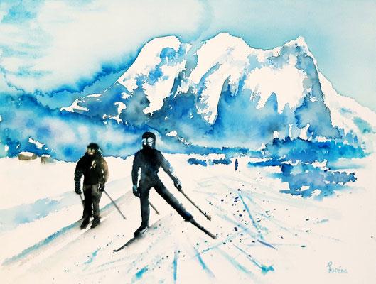 Ski de fond 24 x 32 - nicht eingerahmt/ohne Passepartout CHF 200