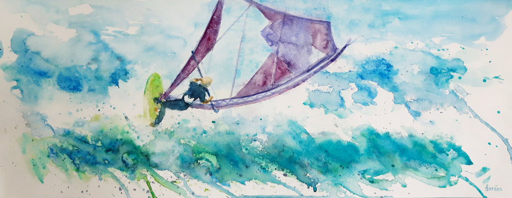 Windurfing 3 /25 x 65 nicht eingerahmt/ohne Passepartout CHF 250