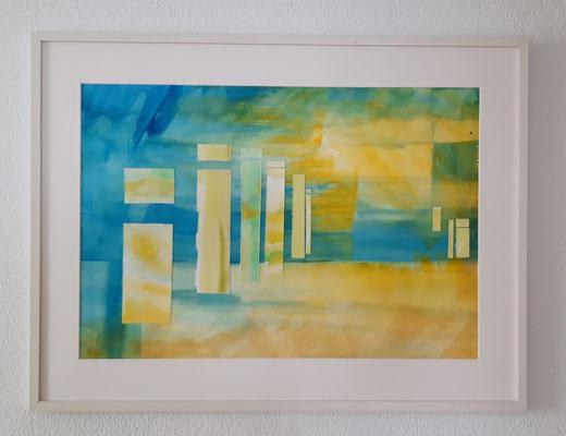 Infinité 50 x 70 Papier - Collage - eingerahmt/encadré 60 x 80 CHF 600