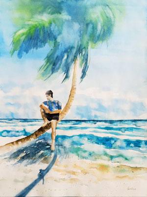 A l'hombre du palmier 42 x 56 nicht eingerahmt/ohne Passepartout CHF 300