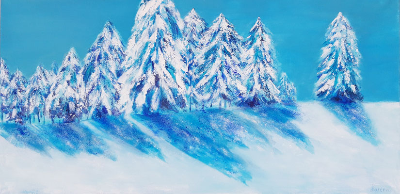 Reflets dans la neige 40 x 80 Leinwand/canevas CHF 600