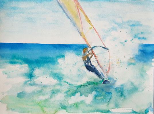Windurfing 2 /30 x 40 nicht eingerahmt/ohne Passepartout CHF 200