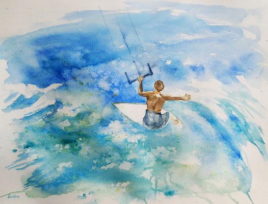 kite surfer 4 /50 x 65 nicht eingerahmt/ohne Passepartout CHF 350