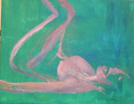 Frauenkörper - Oelakt nach Bild, Acrylgrundierung - Anfang