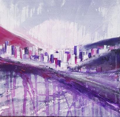 Ville violette 40 x 40 Leinwand/canevas CHF 300