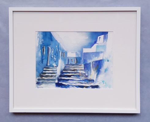 Escaliers 1 /30 x 40 eingerahmt mit Passepartout - verglast 40 x 50 CHF 350