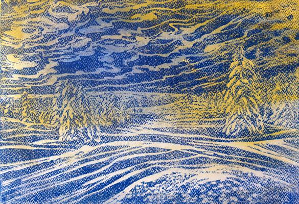 Landschaft 14 Aquarellpapier