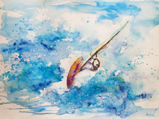 Windurfing 4 /30 x 40 nicht eingerahmt/ohne Passepartout CHF 200