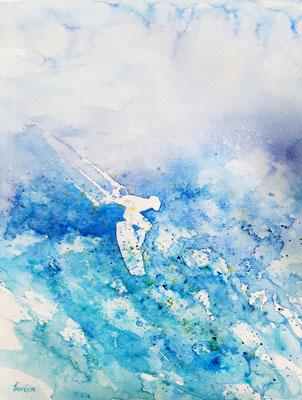 kite surfer 7 /40 x 50 nicht eingerahmt/ohne Passepartout CHF 300