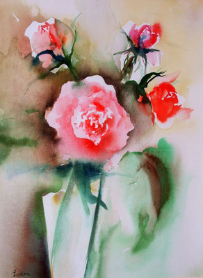 Roses, 50 x 60, eingerahmt, verglast, CHF 550.00