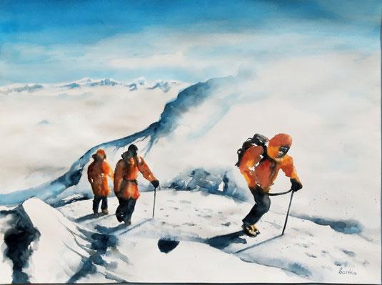 Promenade en haute montagne 42 x 56 - nicht eingerahmt/ohne Passepartout CHF 300