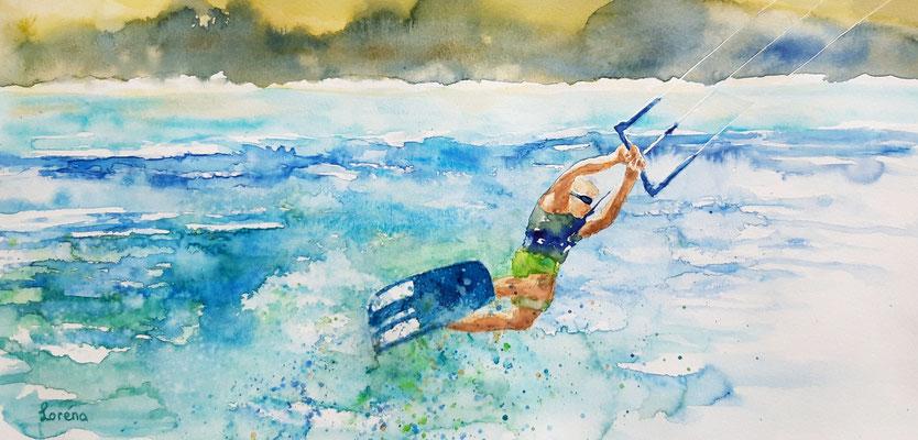 kite surfer 1 /25 x 50 nicht eingerahmt/ohne Passepartout CHF 250