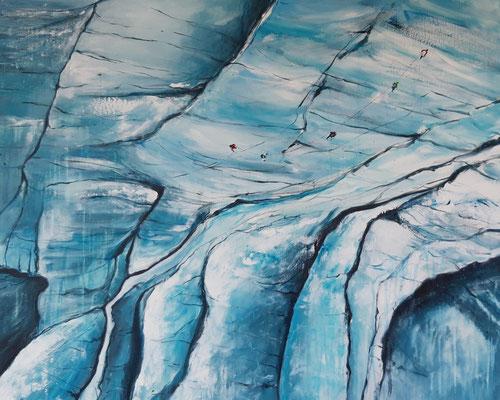 Glacier, 90 x 90, Leinwand/canevas, CHF 950.00