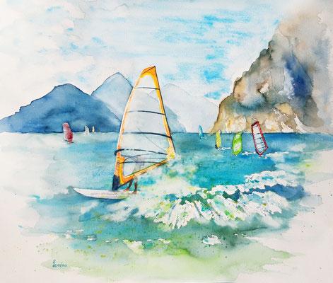 Windurfing 5 /50 x 65 nicht eingerahmt/ohne Passepartout CHF 350