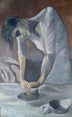 Die Büglerin - la repasseuse - Pablo Picasso 1881 - 1973