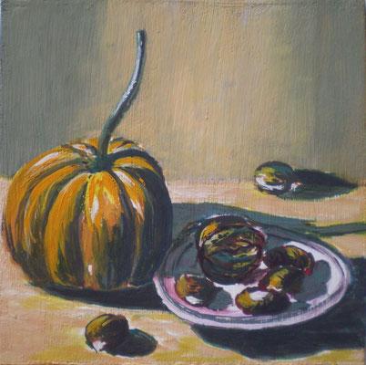 Stillleben mit Gouache impressionistische Art