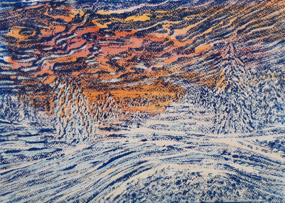 Landschaft 20 Aquarellpapier