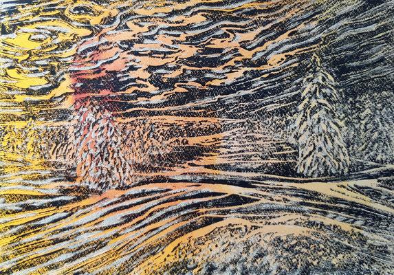 Landschaft 17 Aquarellpapier