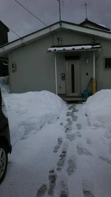 3年ぶりの大雪です