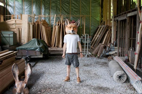 Konferenz der Tiere _ Fuchs  I  Tannenholz bemalt  I  Eins und Alles, Welzheim