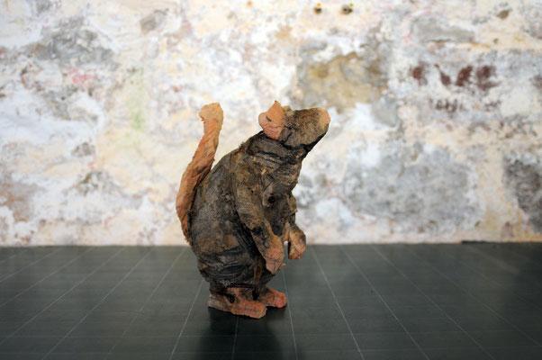 Ratte, Pappelholz bemalt, 2015 Privatbesitz