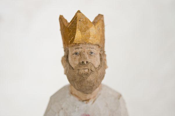 König  I  Lindenholz bemalt  I  Privatbesitz