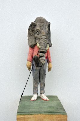 Elefantenmann  I  Lindenholz, bemalt  I  Privatbesitz