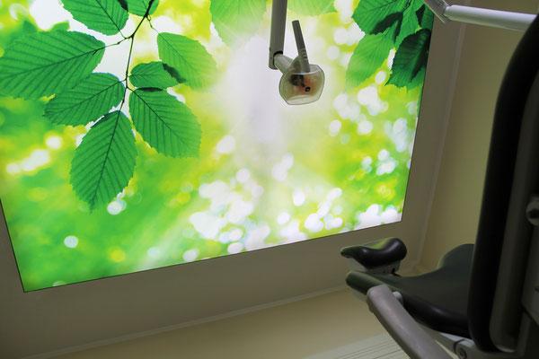 Dr. Grünberg beleuchtete Deckenbilder Zahnarztpraxis 3