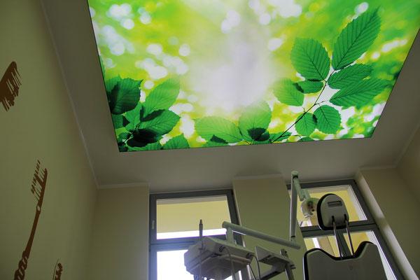 Eine LED Lichtdecke in der Praxis von Zahnarzt Dr.Grünberg