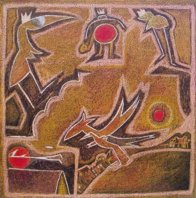 Die drei Sonnen 2004 // 40  x 40  cm