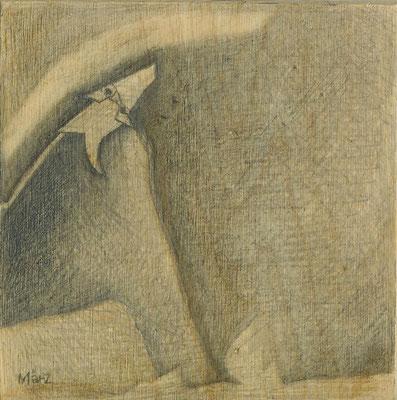 Ein Steinbär bestaunt die Himmelserscheinung // 10  x 10 cm