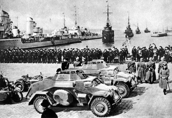Вступление немецко-фашистских войск в Клайпеду, Литва. Март 1939 г.