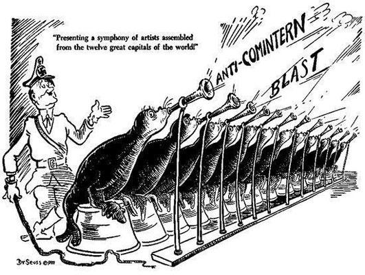 Карикатура на Антикоминтерновский пакт, japan_germany_anti_commintern_pact_25_november_1936