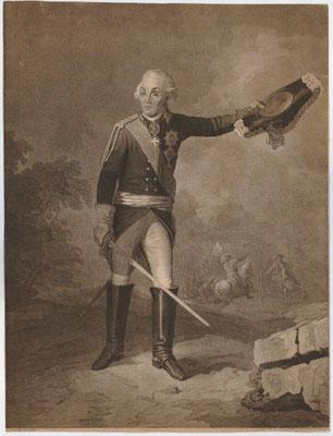 Дж. Уокер. Портрет А. В. Суворова, гравюра, 1797 г. / Pic. 6. J. Walker. Portrait of A. V. Suvorov, engraving, 1797.