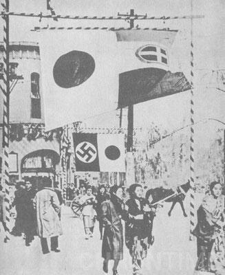 Служители посольства Германии в Японии празднуют подписание,  japan_germany_anti_commintern_pact_25_november_1936 пакта. Токио, 1936 г.