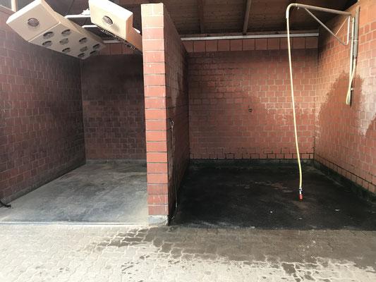 Solarium und Waschplatz