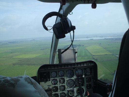 Cockpit einer Bell 206L LongRanger © Andreas U.
