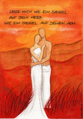 mit persönlicher Signatur 2,50€ Postkarte/ 3€ Doppelkarte auf Pappe geklebt/ liebevolle Handarbeit - Siegel