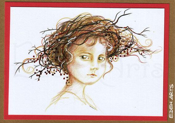 mit persönlicher Signatur 2,50€ Postkarte/ 3€ Doppelkarte auf goldene Pappe geklebt/ liebevolle Handarbeit - Novembernest