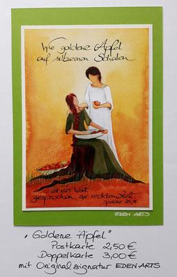 Goldene Äpfel - mit persönlicher Signatur 2,50€ Postkarte/ 3€ Doppelkarte auf Pappe geklebt/ liebevolle Handarbeit