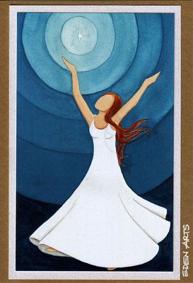 mit persönlicher Signatur 2,50€ Postkarte/ 3€ Doppelkarte auf goldene Pappe geklebt/ liebevolle Handarbeit - Fröhlich