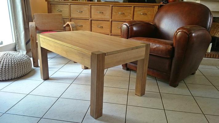 Table basse avec tiroir invisible