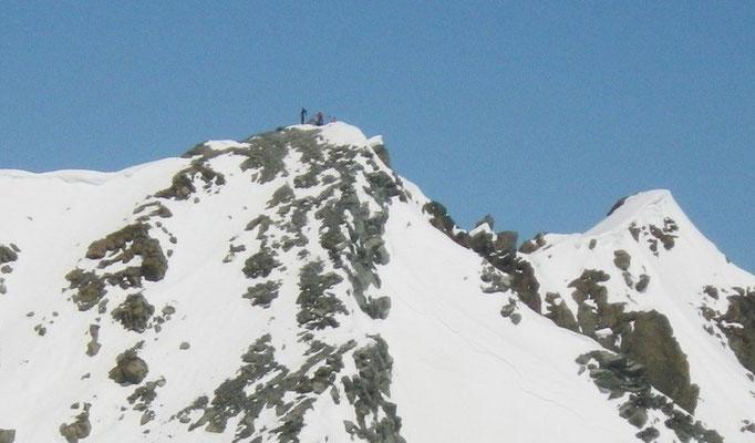 Nous au sommet (photo prise depuis Gébroulaz)