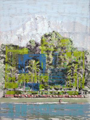 Marbella. Oleo, acrílico, y tinta cina sobre tabla. 74x99 cm. 1.000 €.